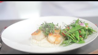 Pan Seared Scallops With Snow Pea Salad - Cooking With Olga Valentina