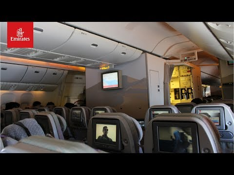Emirates 625 Lahore to Dubai Boeing 777 Economy class full flight experience