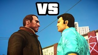 GTA IV - Tommy Vercetti meets Niko Bellic Part 1(Tommy Vercetti meets Niko Bellic -Plot Tommy visits Liberty City and he went to Strip Club to relax from Helicopter trip. Then he sees Niko looking at hit ..., 2014-07-16T20:32:42.000Z)