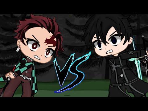 Tanjiro Vs Kirito °Gacha Club° Epic Battle