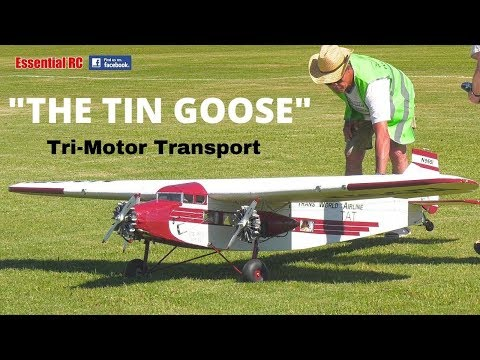 """BRILLIANT and BEAUTIFUL ! SCALE Ford Trimotor """"THE TIN GOOSE"""" North American 3 Engine Mail Transport from YouTube · Duration:  6 minutes 44 seconds"""