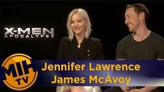 Jennifer Lawrence & James McAvoy Interview X-Men: Apocalypse
