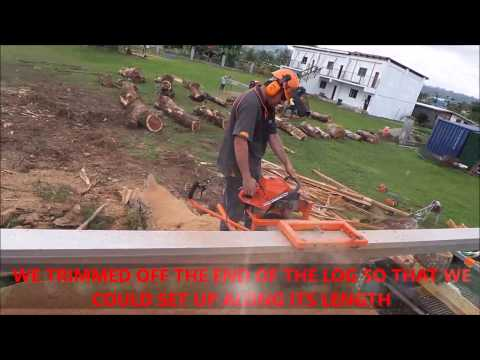 MILLING A GIANT LOG!!