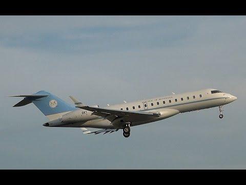Republic of Botswana Bombardier BD-700 OK1 Landing at Amsterdam Airport Schiphol (DutchPlaneSpotter)