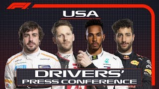 Formule 1 GP USA: Samenvatting persconferentie