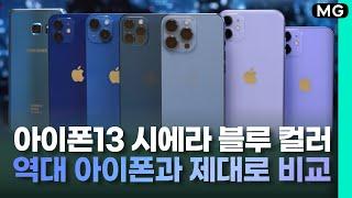 아이폰13 프로 '시에라 블루'부터 '용달 블루'까지,…