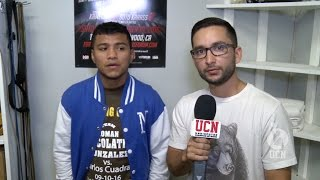 "Roman ""Chocolatito"" Gonzalez Interview - Gonzalez vs Cuadras Media Workout"