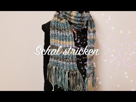 Schal stricken für Anfänger Linkshänder