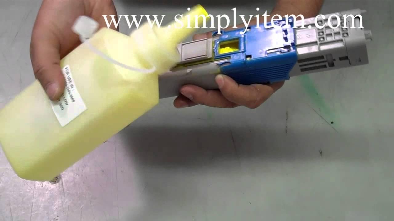 How To Refill Oki C330dn Mc361 Mc561 Mc890 Toner