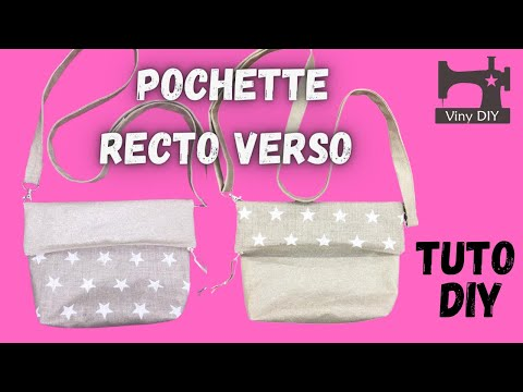 tuto vid o couture pochette recto verso diy youtube. Black Bedroom Furniture Sets. Home Design Ideas
