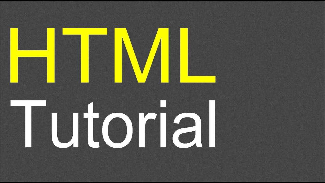 HTML Tutorial for Beginners