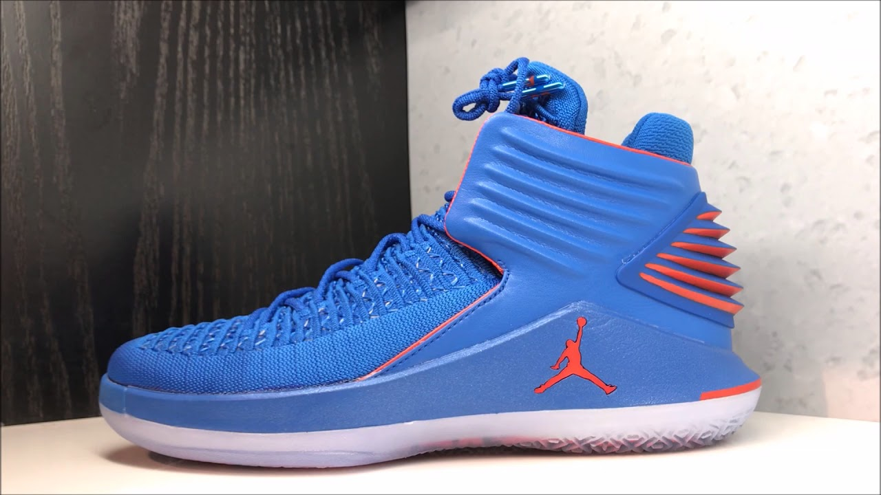 ba19769c882e9e Russell Westbrook Air Jordan 32 XXXII OKC PE  Why Not  Sneaker Review
