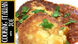 How To Make Italian Fried Polenta With Parmesan Cheese Cooking Italian With Joe