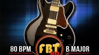 Slow Blues Shuffle guitar backing track in B
