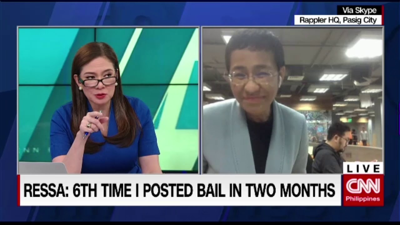 Rappler CEO Maria Ressa out on bail