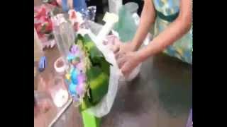 """Как сделать букет цветов самому """"Орхидея цветов"""""""