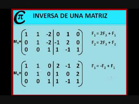 MATRIZ INVERSA 3X3.wmv - YouTube
