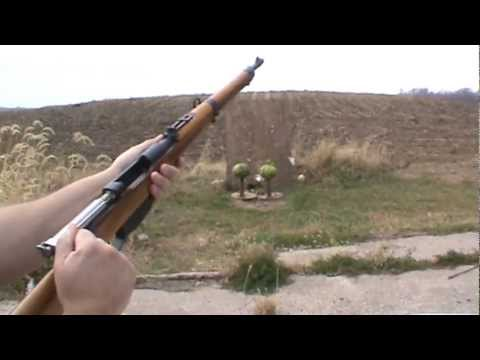 Steyr-Mannlicher M1895-34 shooting 8x56R Bulgarian ammunition at watermelons