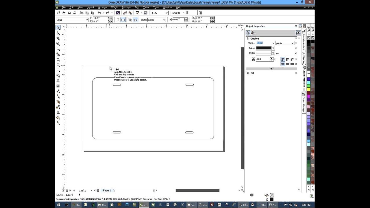 Using Conde Templates with CorelDRAW for Dye Sublimation Imprinting
