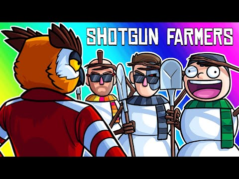 Shotgun Farmers Funny Moments - Our Characters in Snowman Prop Hunt!