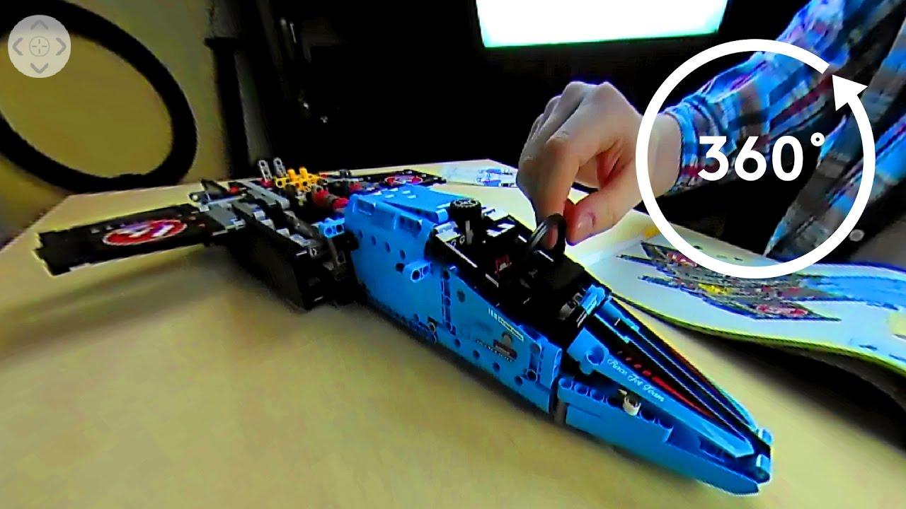 lego technic 42066 air race jet speed build in 4k 360. Black Bedroom Furniture Sets. Home Design Ideas