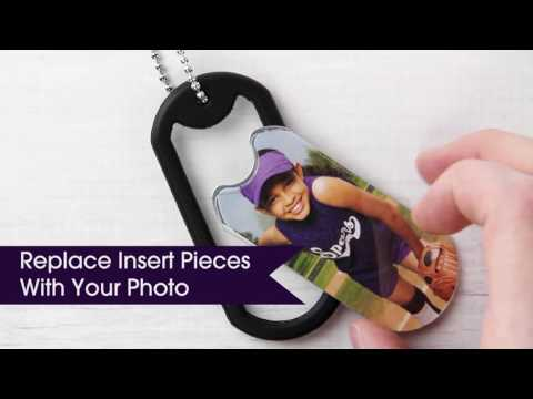 How to Assemble the Photo Dog Tag on a Chain