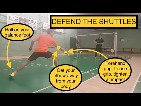 BADMINTON EXERCISE #55 – DEFEND THE SHUTTLES
