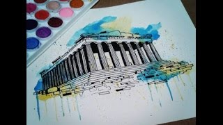 Time Lapse Painting of the Parthenon