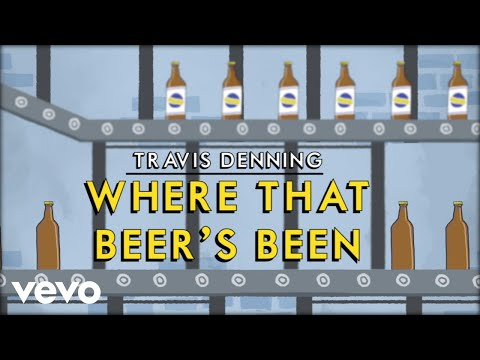 Travis Denning - Where That Beer's Been (Official Lyric Video)