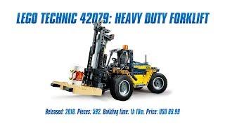 LEGO Technic 42079: Heavy Duty Forklift In-depth Review & Speed Build [4K]