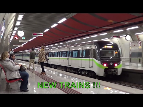 NEW Siemens - Rotem EMU trains on Athens Metropolitan Railway, lines 2 and 3