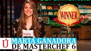 Marta, ganadora de Masterchef 6 España según las encuestas, a unas horas de la final de Masterchef