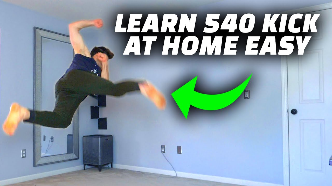 Learn to 540 Kick Easy – Parkour Inside The House Tutorial