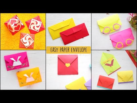 6 Easy DIY Paper Envelopes | Paper Craft | Ventuno art