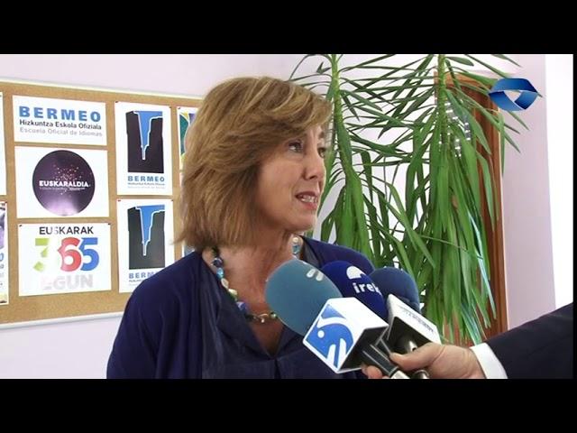 Cristina Uriarte Hezkuntza sailburua izan da Bermeon