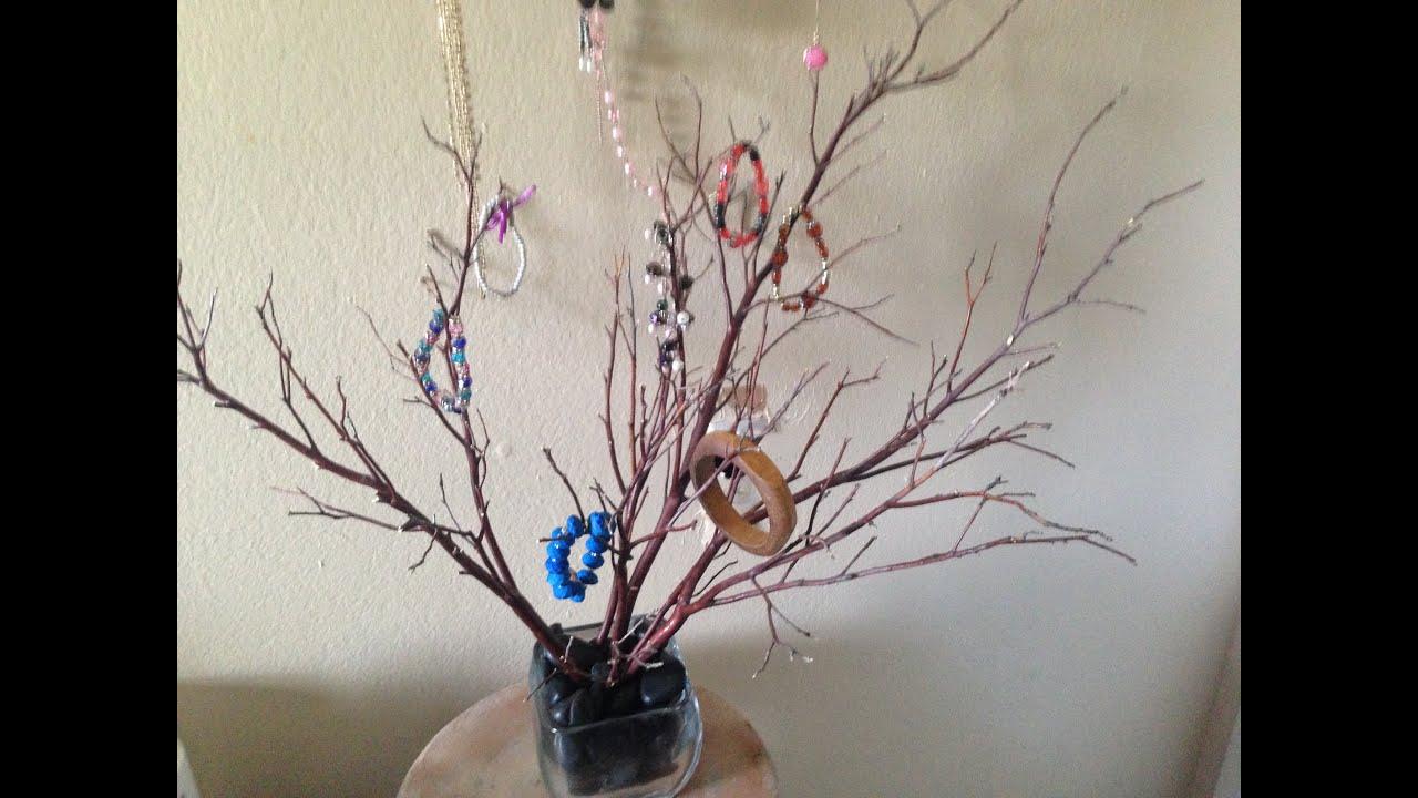como hacer un joyero o decoracion con ramas secas youtube