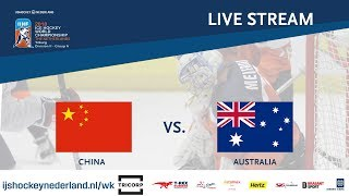 Live Stream WC Ice Hockey Division II Group A: China vs. Australia April 26th 2018