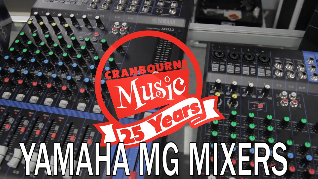 Yamaha Mg10 Mg12 Mixers 2014 Youtube Mgp12x