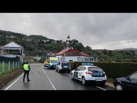 Evacuado en helicóptero tras quemarse la cara en Castrelo de Miño