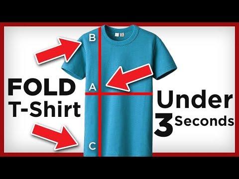 Fold A T-Shirt In 2 SECONDS!  | 4 T-Shirt Folding Hacks | RMRS