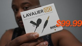 Rode Lavalier Go RAW AUDIO TEST with the Rode Wireless Go