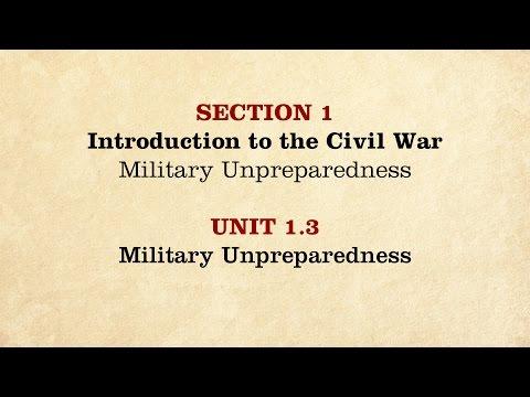 MOOC | Military Unpreparedness | The Civil War and Reconstruction, 1861-1865 | 2.1.3