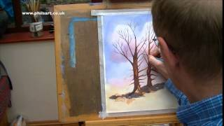 How To Paint A Spring Tree In Water Colour