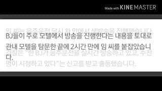 음주운전 방송한 여BJ