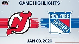 NHL Highlights | Devils vs. Rangers - Jan. 9, 2020