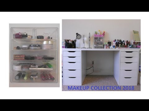 Makeup Collection & Storage 2018 + Mini Room Tour