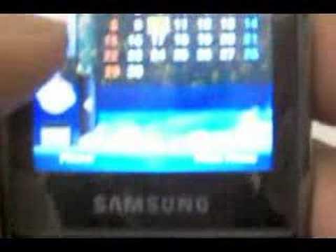 Samsung SGH-i900 TouchWiz UI