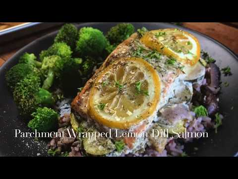 Parchment Wrapped Lemon Dill Salmon Recipe
