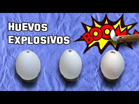 Cómo Hacer Huevos que Explotan - Experimentos Caseros - LlegaExperimentos