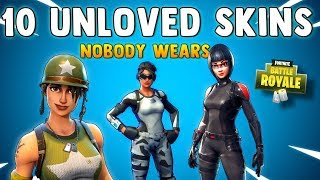 TOP 10 SKINS IN FORTNITE NOBODY WEARS (Unloved & UnderRated Skins) Fortnite Battle Royale Best Skins